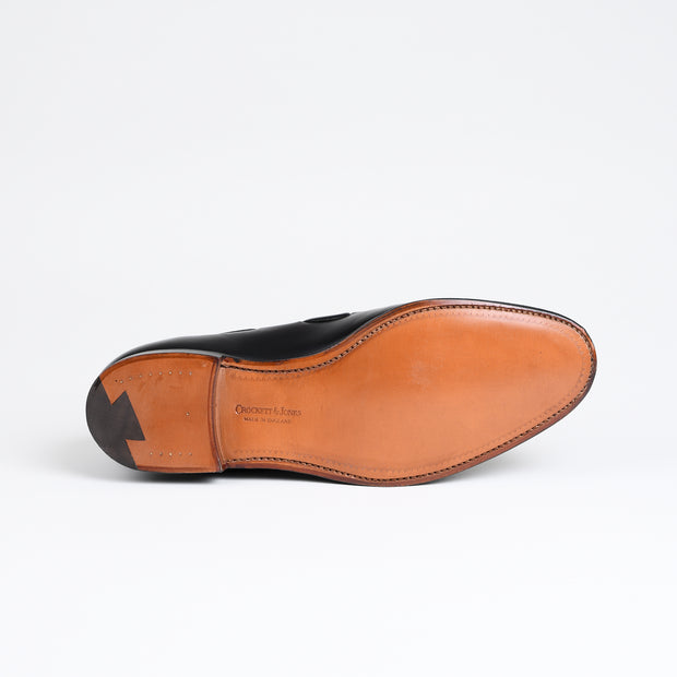 Cavendish Tassel Loafer in Black Calf