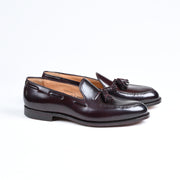 Cavendish Tassel Loafer in Burgundy Shell Cordovan