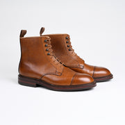 Coniston Derby Boot in Tan Scotch Grain