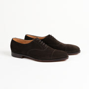 Hallam Captoe oxford in Espresso calf suede
