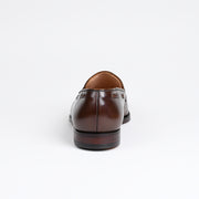 Langham II Tassel Loafer in Dark Brown Burnished Calf