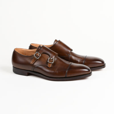 Lowndes Double monk in dark brown burnished calf