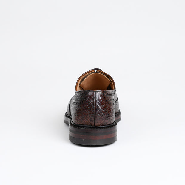 Pembroke Derby in Dark Brown Scotch Grain
