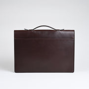 The Port Briefcase - Chocolate harness leather