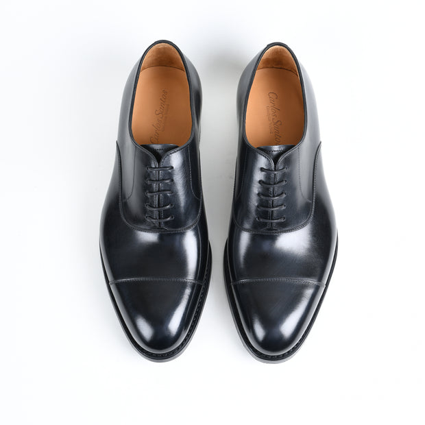 Cap-toe Oxford 10007-397 in Black Calf Dainite Sole