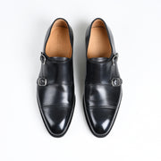 Double Monk 6942 in Black Patina Calf