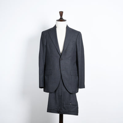 Glen Plaid Suit in Wool - Grey