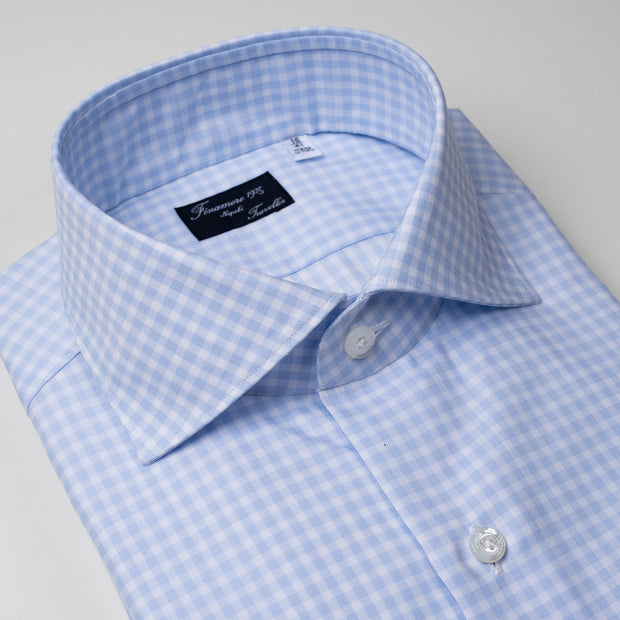 Dress Shirt in Light Blue Gingham