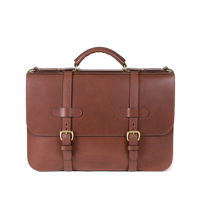 English Briefcase in Chestnut Harness Leather
