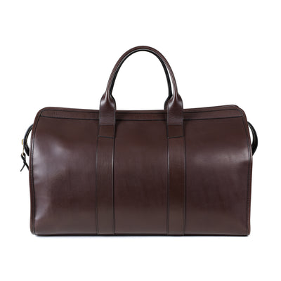 Signature Duffle Bag in Chocolate Harness Leather - Lined