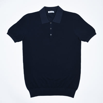 Polo shirt in cotton pique - Navy