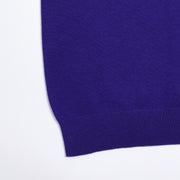 Short-sleeve polo shirt in superfine merino - Purple