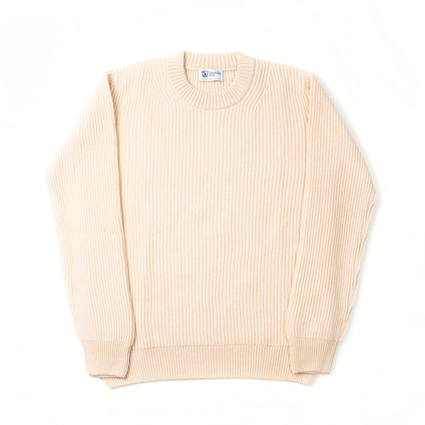 Ribbed Cashmere Sweater - Buttermilk