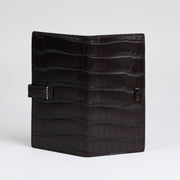 Long Wallet - Dark Brown Crocodile