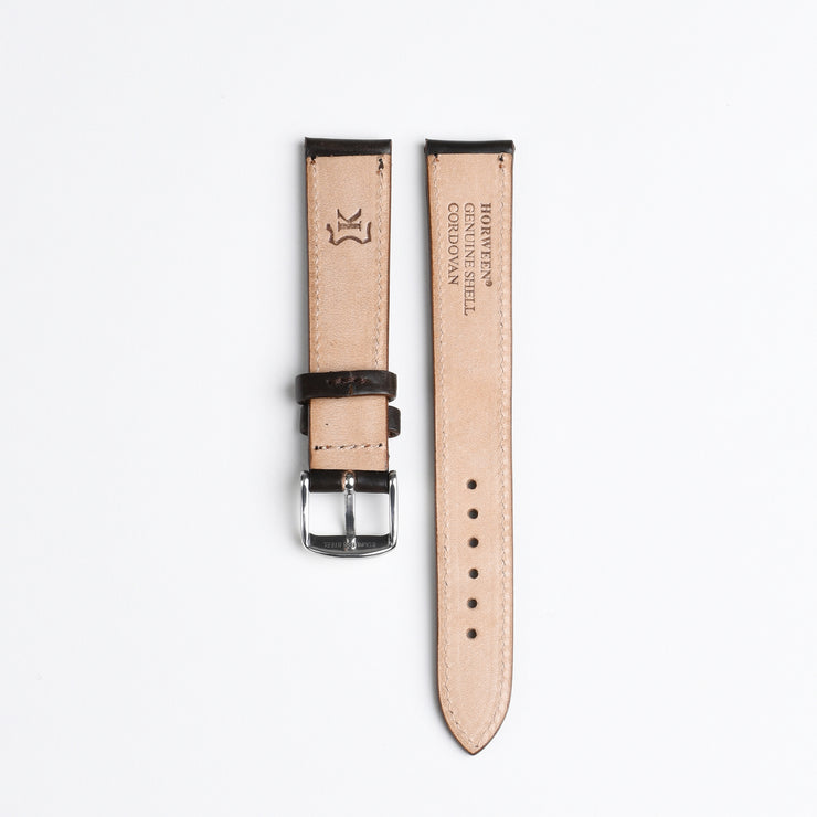 Horween Shell Cordovan Watch Strap 18mm - Cigar
