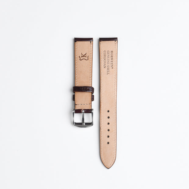 Horween Shell Cordovan Watch Strap 18mm - Col. 8