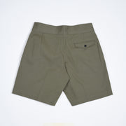 Cotton Gurkha Shorts - Olive Green