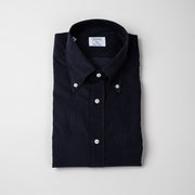 Button Down Shirt in Navy Pincord
