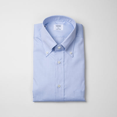 Button Down Shirt in Light Blue Royal Oxford