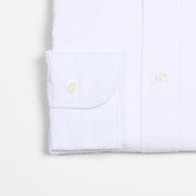 Button-down In Cotton Seersucker - Off White