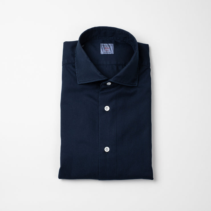 Casual Shirt in Navy Twill