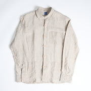 Shirt Jacket in Undyed Linen - Natural