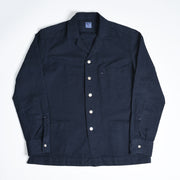 Camp Collar Shirt Jacket Cotton Twill - Navy