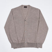 Cardigan in Merino Wool - Beige