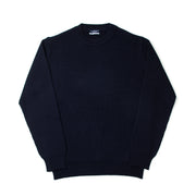 Fisherman Rib Crewneck in Blue