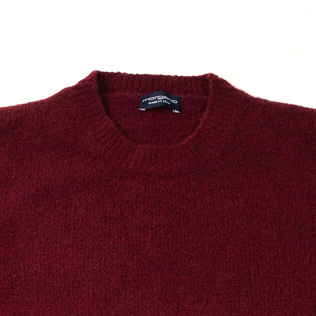 Italian Shaggy Dog Knit in Burgundy