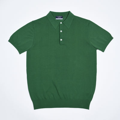 Egyptian Cotton Crepe Polo - Green