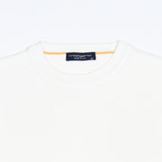 Single Knit Cotton Crewneck - White