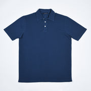Pique Polo Shirt in Cotton - Faded Navy