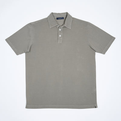 Pique Polo Shirt in Cotton - Faded Olive
