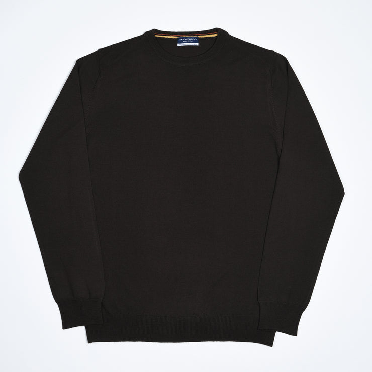 Extrafine Merino Crewneck - Dark Brown