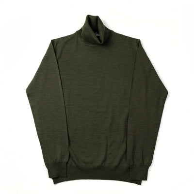 Extrafine Merino Rollneck - Military Green