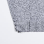 Roll-neck in Wool and Cashmere - Grey Melange
