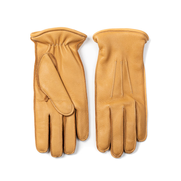 Deerskin Leather Glove - Natural Tan