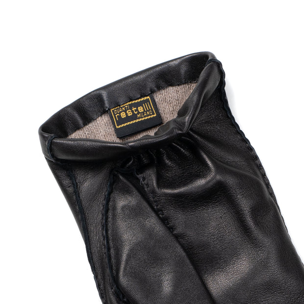 Lambskin Leather Glove - Black