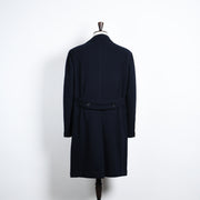Overcoat in Balloon Wool - Navy