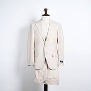 Gabardine Wool Suit - Cream