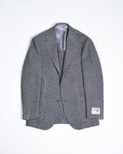 Houndstooth Sport Jacket in Wool - Gray / Black