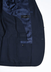 Hopsack Sport Jacket in Wool - Navy