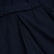 Polo Coat in Balloon Wool Twill - Navy