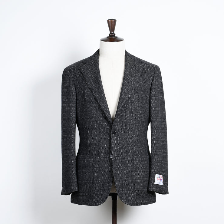 Broad Birdseye Sport Jacket in Wool - Gray / Black