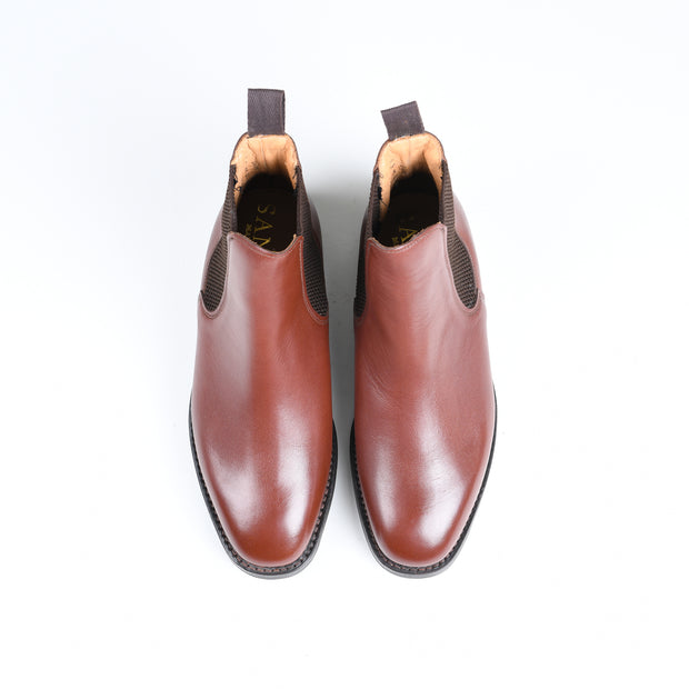 Towcester Chelsea Boot in Brown Leather