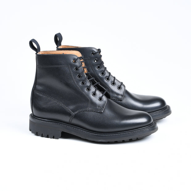 Kelso Plain toe Boot in Black Leather