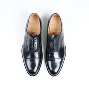 Stockholm Captoe Oxford in Black Calf
