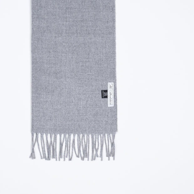 Large Wool Scarf - Flannel Gray