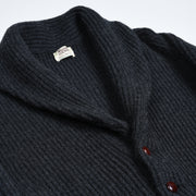 Lambswool Shawl Collar Cardigan - Dark Grey